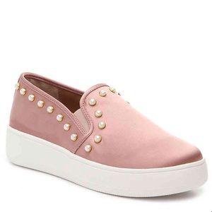 Steve Madden Pink & Pearls Slip On Sneaker